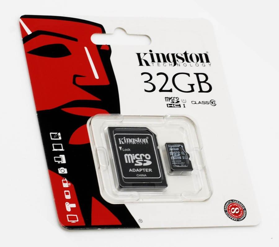 Carte mémoire Kingston micro SDHC 32 Go + adaptateur SD, informatique ile de la réunion