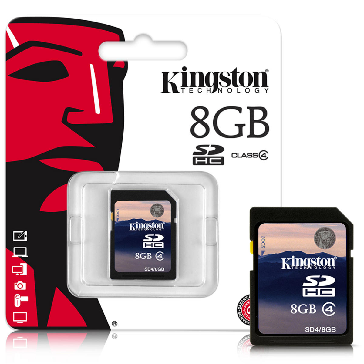 Carte mémoire Kingston SDHC 8 Go CL4, informatique ile de la réunion