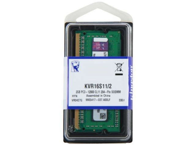>Mémoire So-Dimm Kingston DDR3 2Go PC12800 1600MHz CL11, informatique Reunion 974, Futur Réunion informatique