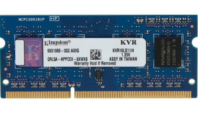 >Mémoire So-Dimm Kingston DDR3L 4Go PC12800 1600MHz CL11, informatique Reunion 974, Futur Réunion informatique