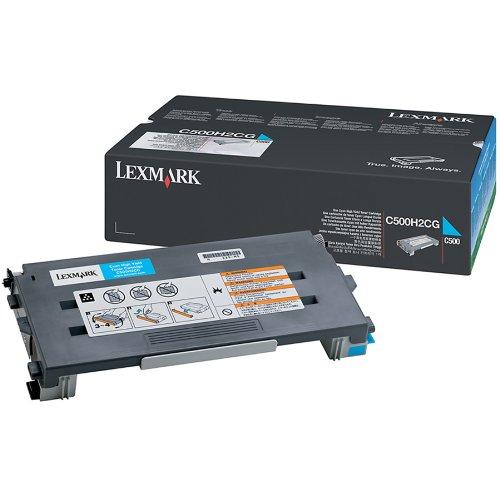 Toner Cyan Lexmark C500H2CG Haute capacité (3 000 pages à 5%) , Informatique Réunion 974