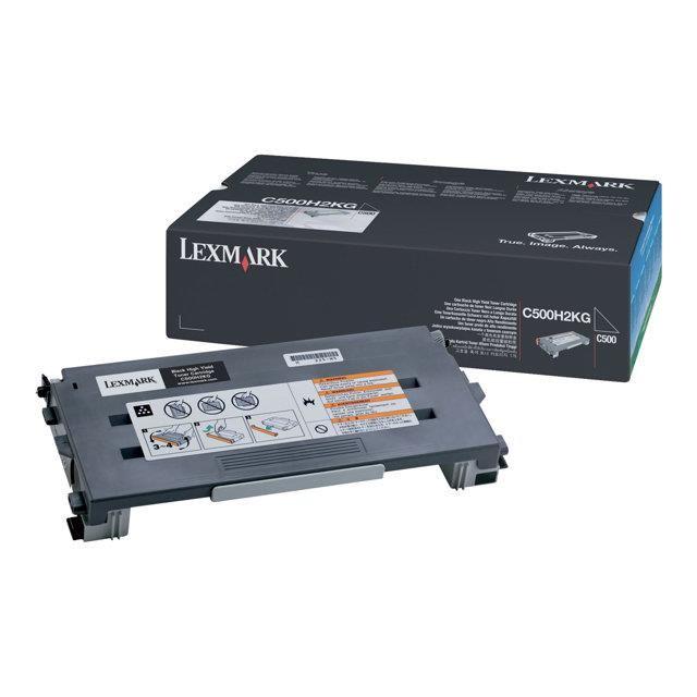 Toner Noir Lexmark C500H2CG Haute capacité (5 000 pages à 5%) , Informatique Réunion 974