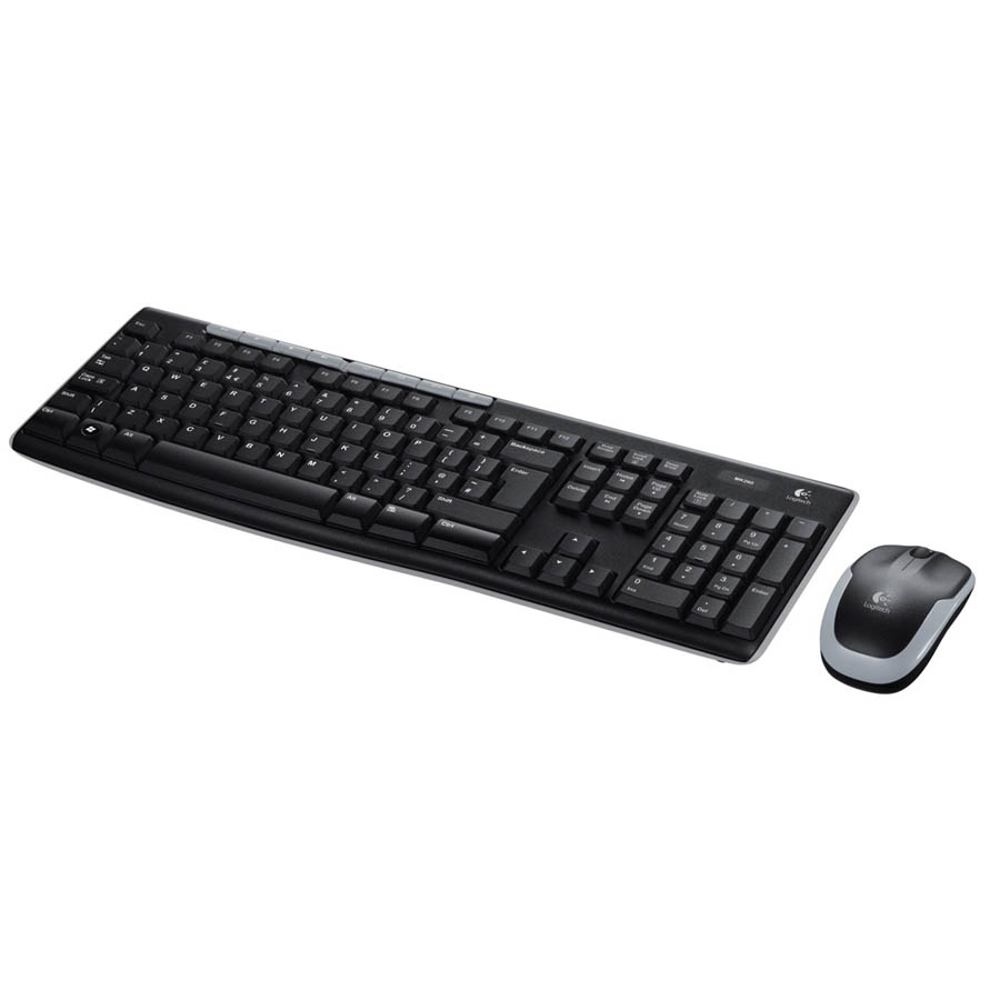 pack clavier et souris logitech sans fil cordless mk270. Black Bedroom Furniture Sets. Home Design Ideas