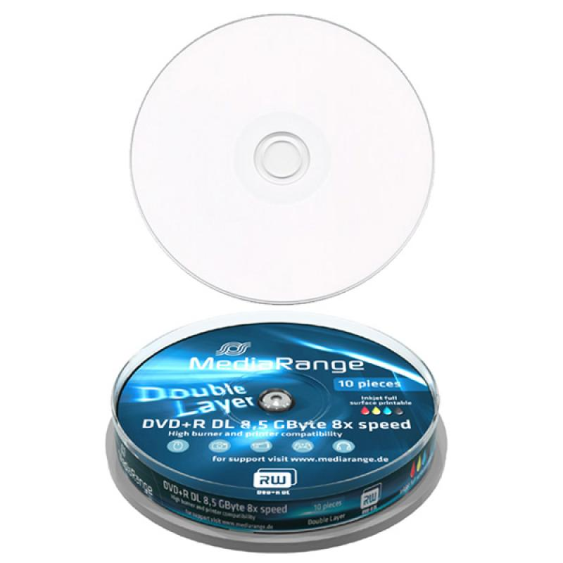 Mediarange DVD+R DL 8.5GB 8x speed 8,5 Go cloche de 10, informatique reunion, informatique ile de la Réunion 974