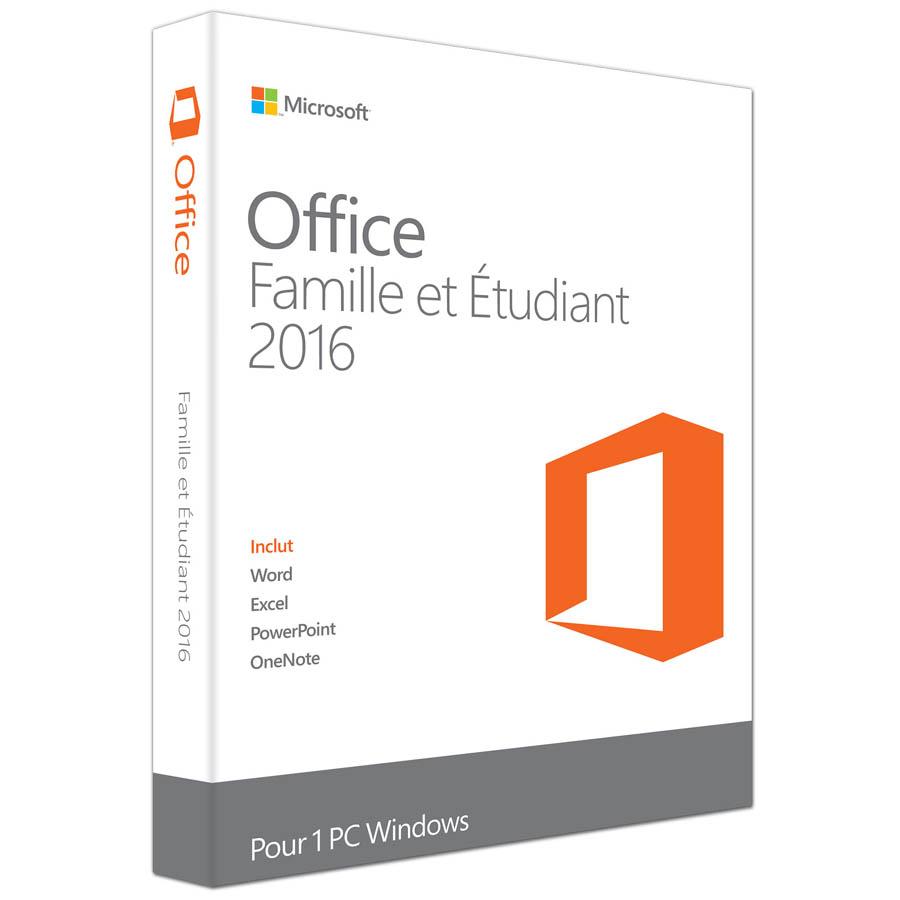 Microsoft Office Famille et Etudiant 2016 (Français, pour Windows) Licence 1 utilisateur pour 1 PC (carte d'activation), informatique Reunion 974, Futur Réunion informatique
