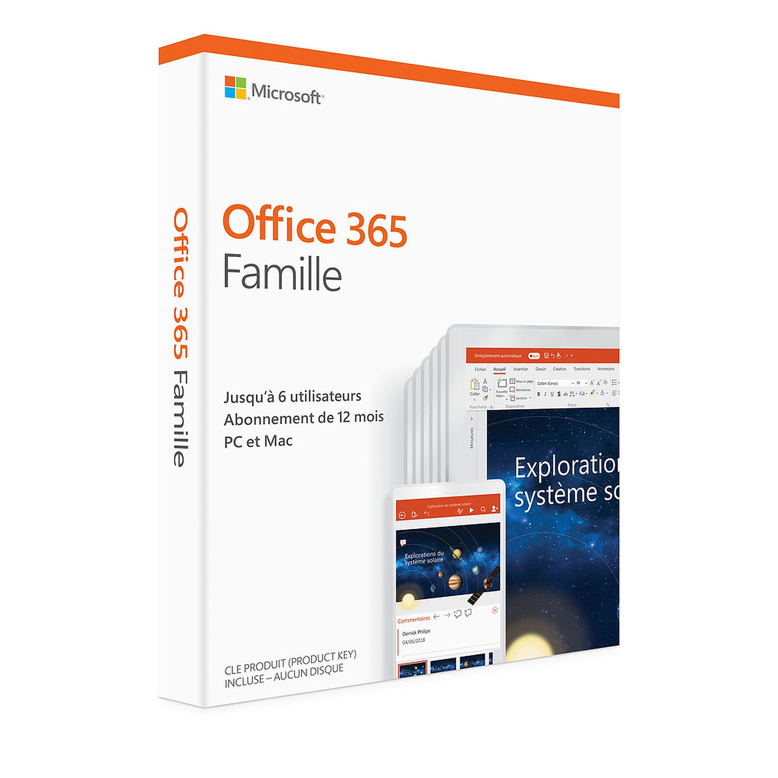 Microsoft Office 365 Famille (Français, pour Windows ou Mac) 6 postes, informatique Reunion 974, Futur Réunion informatique