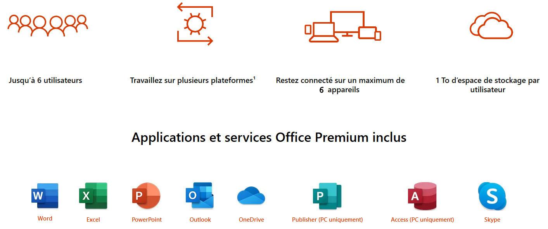 Microsoft Office 365 Famille (Français, pour Windows, Mac OS, smartphone et tablette) 6 utilisateurs abonnement pour 1 an, informatique Reunion 974, Futur Réunion informatique