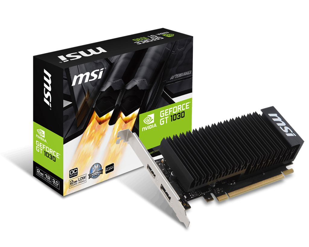 Carte graphique MSI GT 1030 2 Go DDR5 LP OC PCIe, informatique reunion, informatique ile de la Réunion 974
