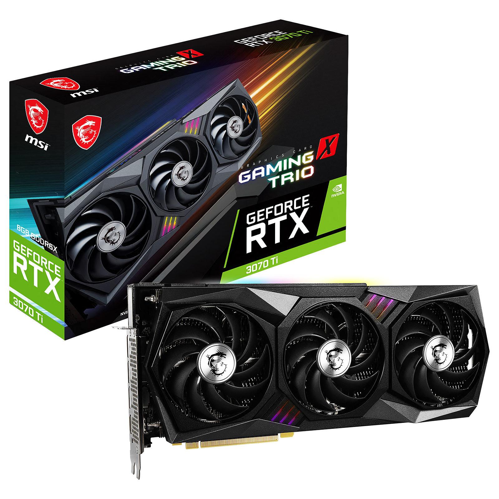 Carte graphique MSI GeForce RTX 3070 Ti GAMING X TRIO 8G PCIe 4.0, informatique reunion, informatique ile de la Réunion 974