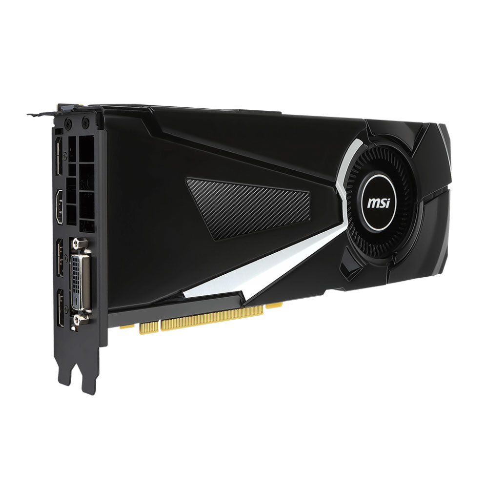 Carte graphique MSI GeForce GTX 1080 Aero 8 Go DDR5X PCIe 3.0, informatique reunion, informatique ile de la Réunion 974