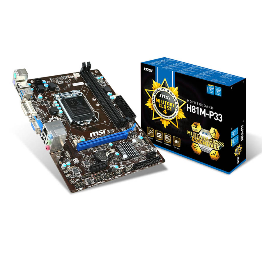Carte mère MSI H81M-P33 Socket 1150 (Intel H81 Express) mATX, informatique ile de la Réunion 974