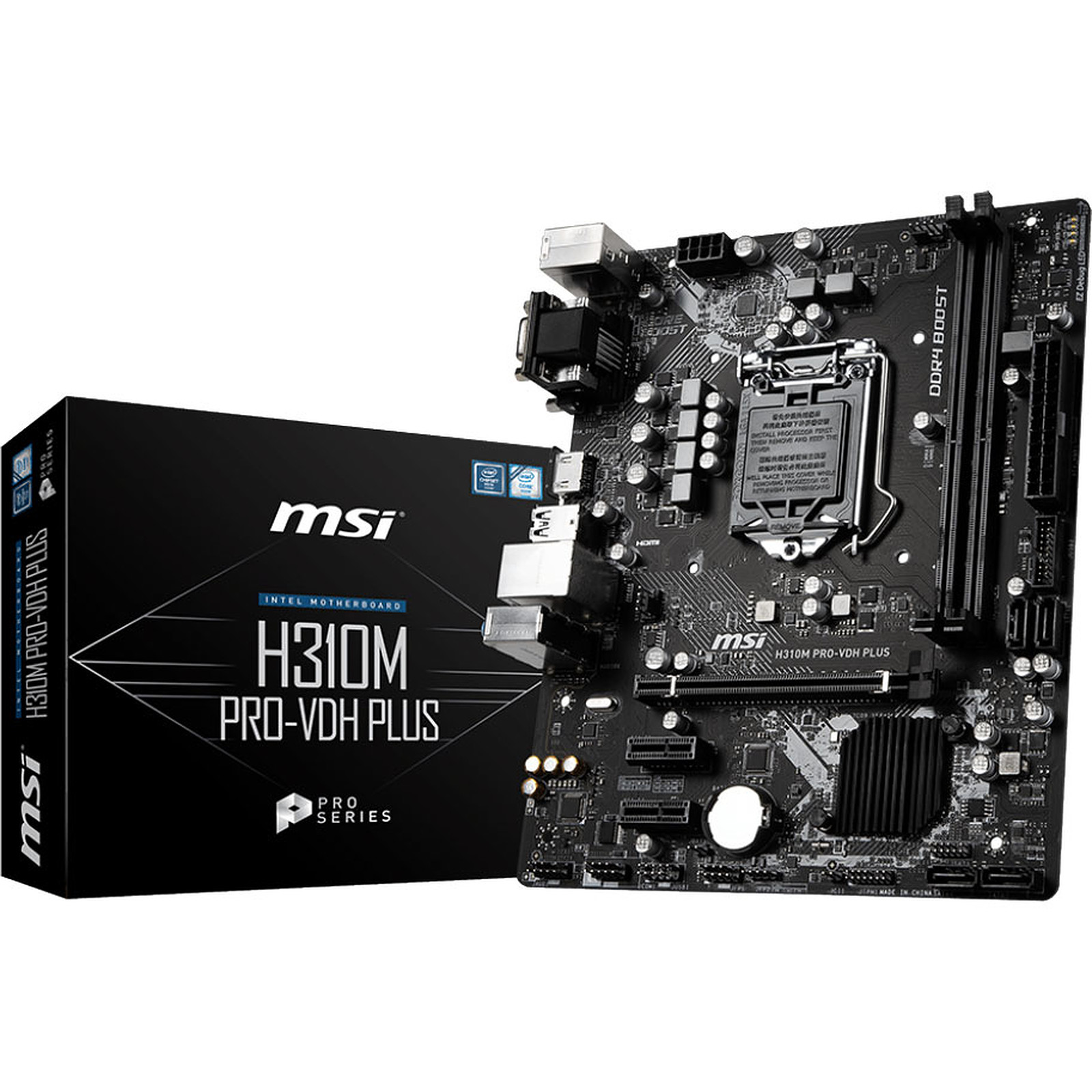 Carte mère MSI H310M PRO-VDH PLUS Socket 1151 (Intel H310 Express) mATX, informatique ile de la Réunion 974