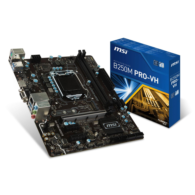 Carte mère MSI B250M PRO-VH Socket 1151 (Intel B250 Express) mATX, informatique ile de la Réunion 974