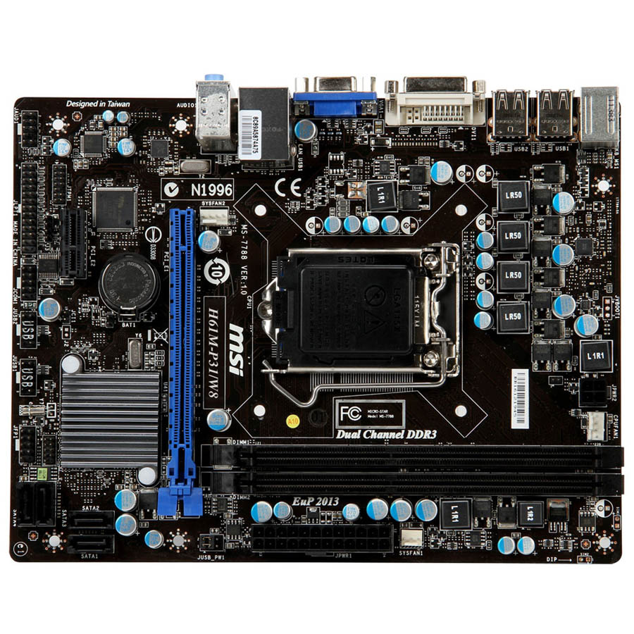 carte m re msi h61m p31 w8 socket 1155 intel h61 express. Black Bedroom Furniture Sets. Home Design Ideas