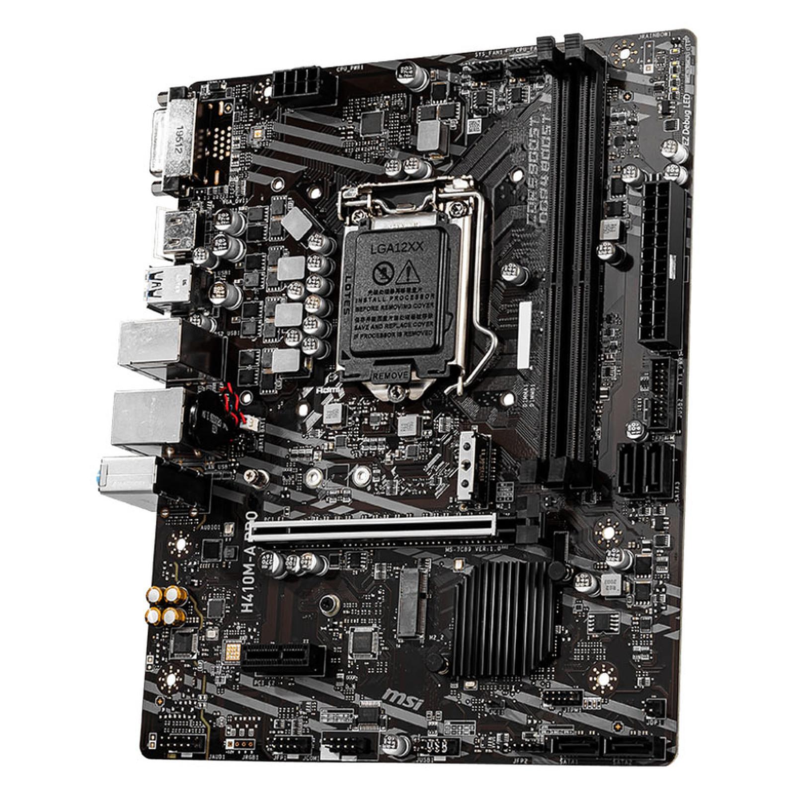 Carte mère MSI H410M-A PRO Socket 1200 (Intel H410 Express) mATX, informatique ile de la Réunion 974