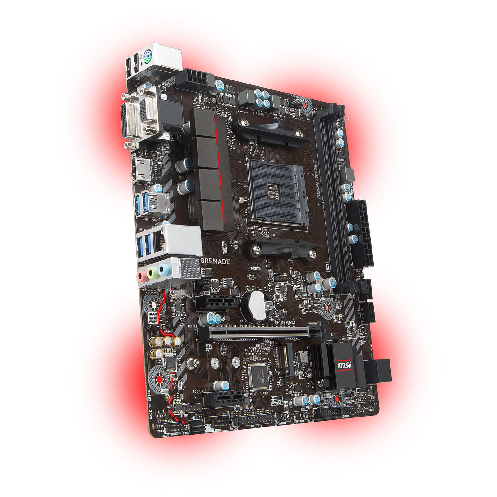 Carte mère MSI A320M GRENADE Socket AM4 (AMD A320) mATX, informatique ile de la Réunion 974
