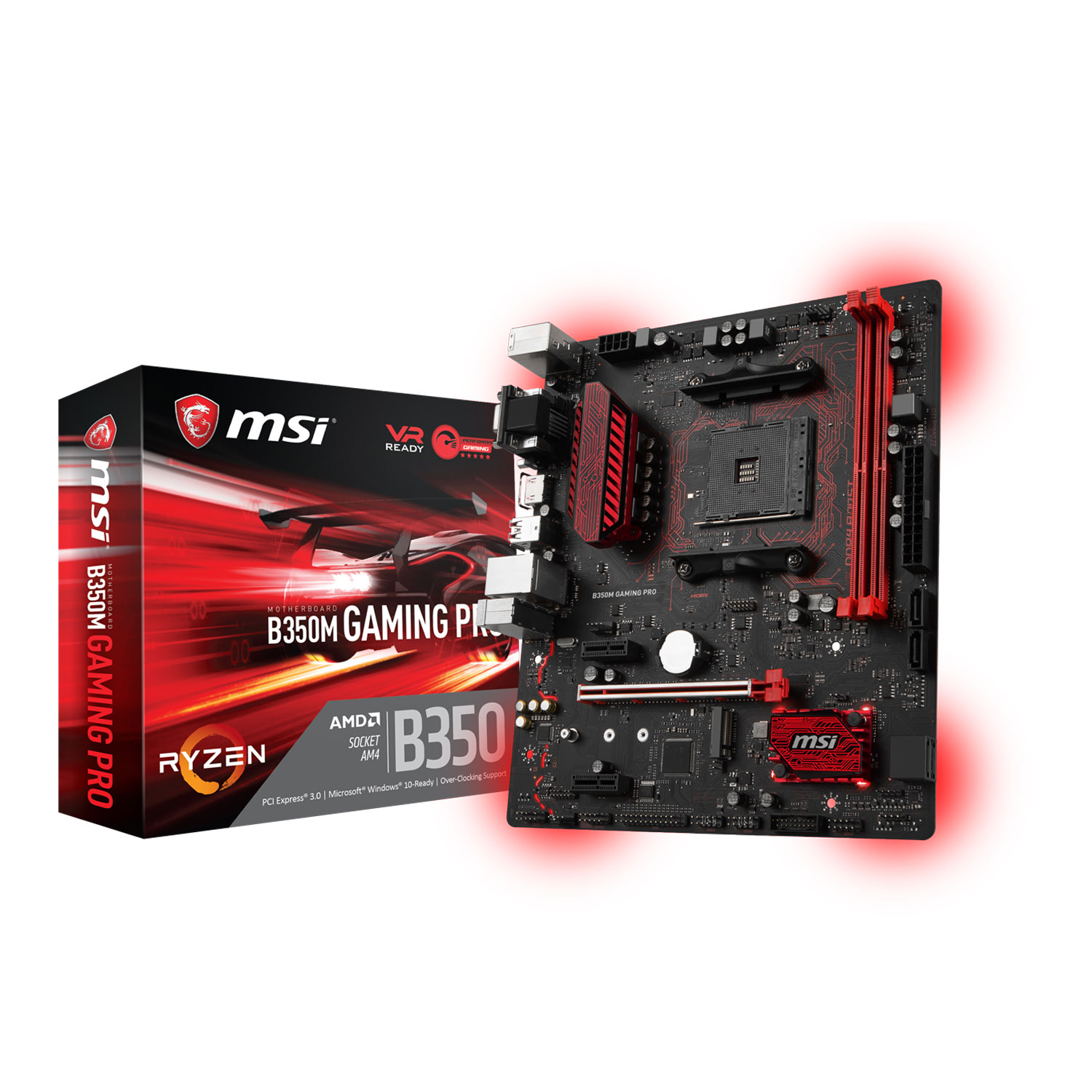 Carte mère MSI B350M Gaming PRO Socket AM4 (AMD B350) mATX, informatique ile de la Réunion 974