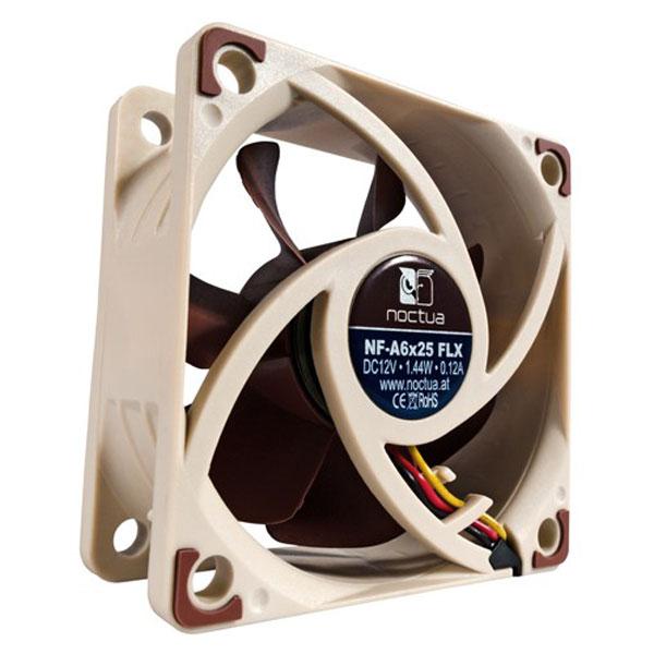 Ventilateur de boîtier silencieux 60x25mm Noctua NF-A6x25 FLX, informatique ile de la Réunion 974