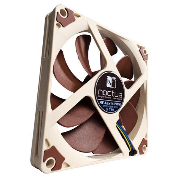 Ventilateur de boîtier silencieux 92x14mm Noctua NF-A9x14 PWM, informatique ile de la Réunion 974