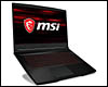Ordinateur portable Gamer MSI GF63, Intel Core i7 Hexa Core, 16 Go DDR4, SSD 256 Go Nvme, 1 To HDD, GTX 1050Ti 4 Go, 15.6 pouces Full HD LED, W10 64bits