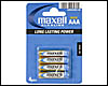 Piles Maxell : 4 piles Alcalines AAA (LR3) 1.5v