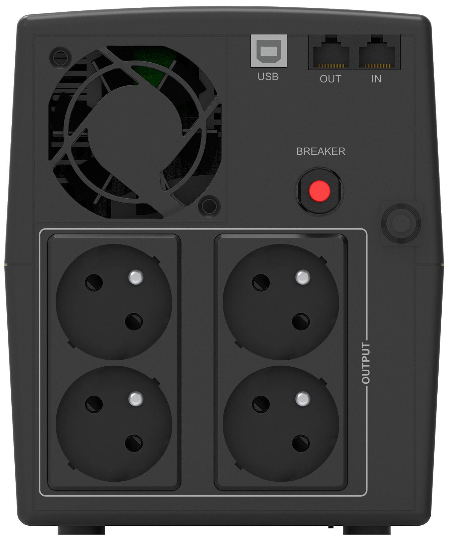 Onduleur régulateur de tension (AVR) PowerWalker Basic VI 2200VA / 1320W, informatique ile de la Réunion 974