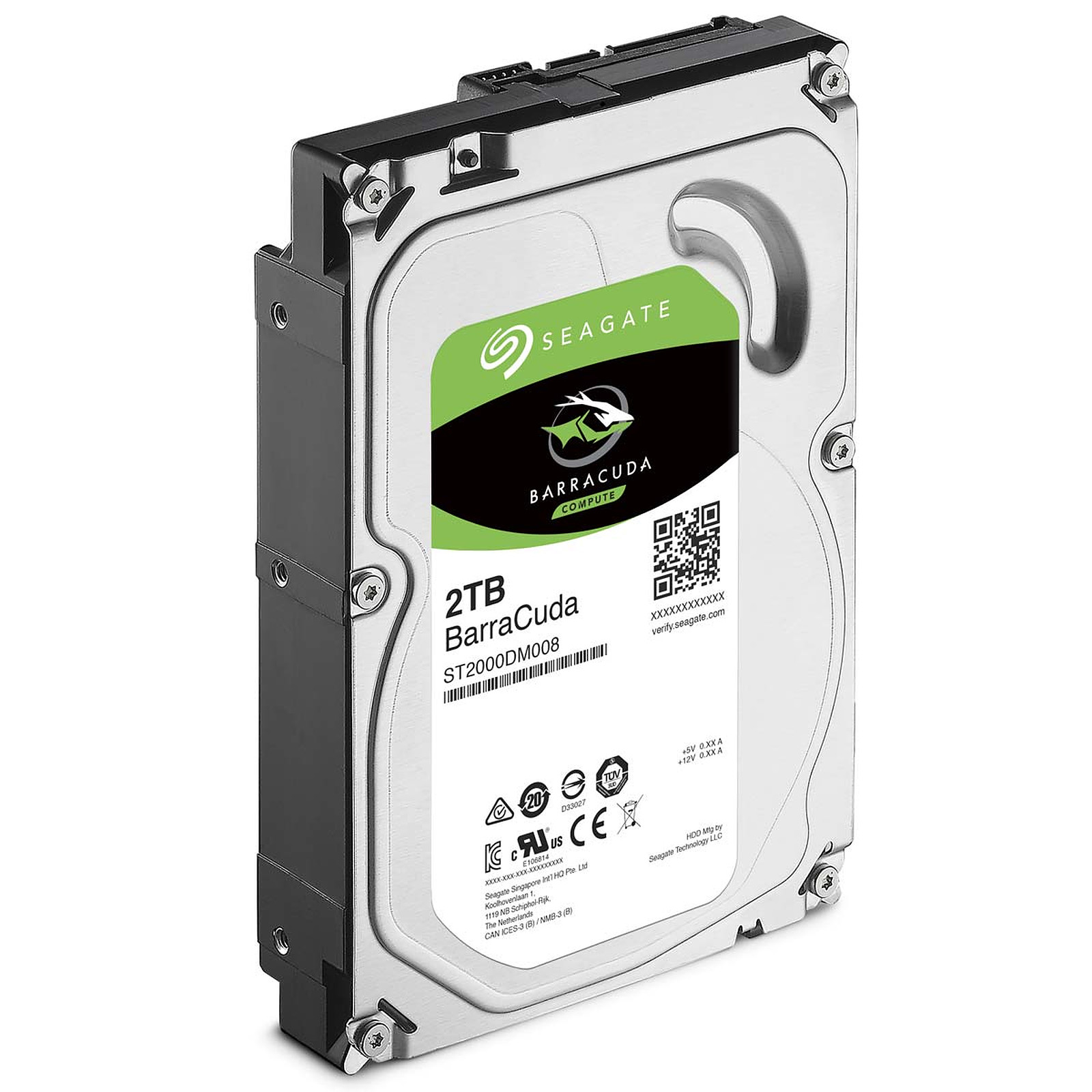 Disque dur Seagate BarraCuda 2 To SATA 3 (SATA 6Gb/s) 256 Mo 7200 trs/mn (bulk), informatique ile de la Réunion 974