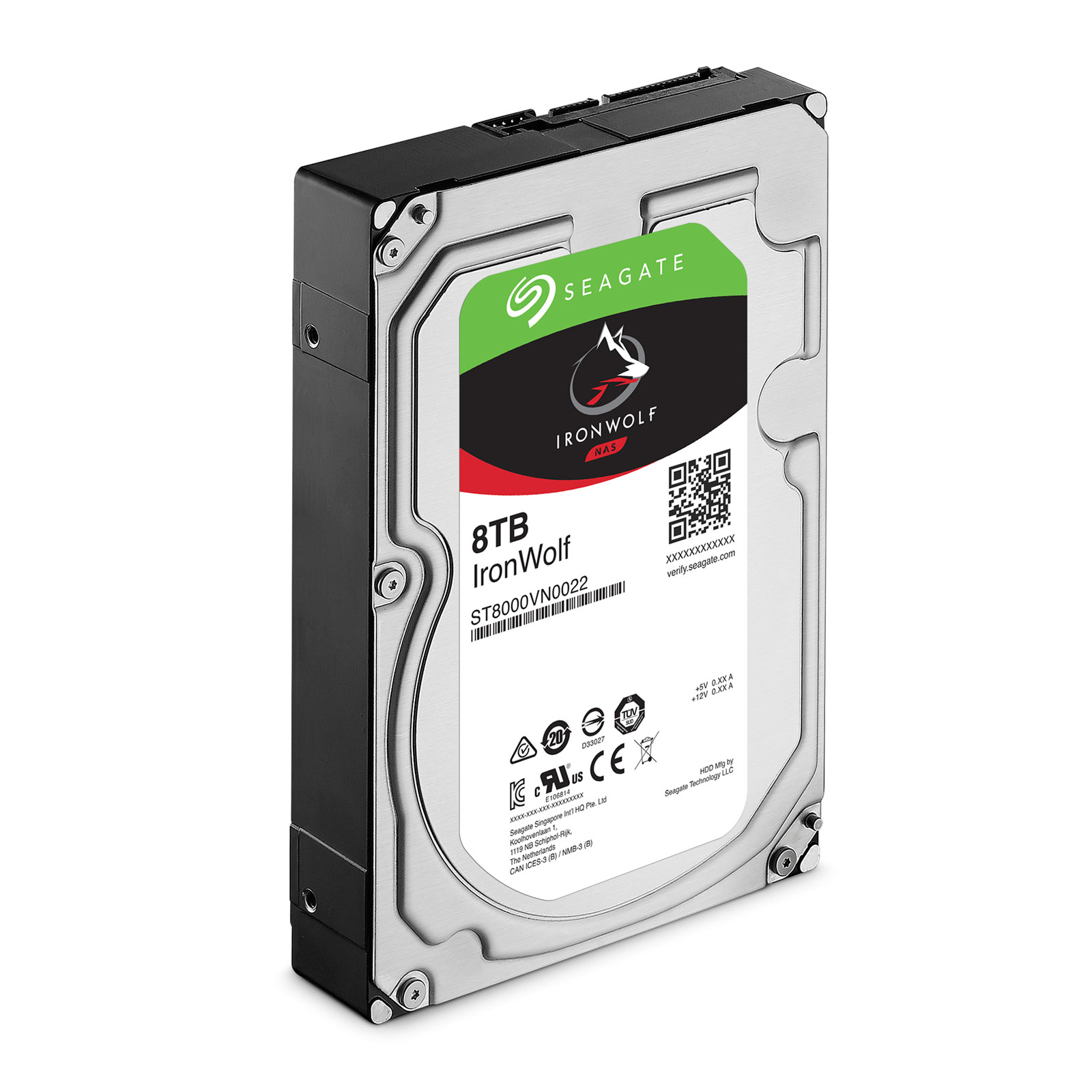 Disque dur Seagate IronWolf 8 To SATA 3 (SATA 6Gb/s) 256 Mo 7200 trs/mn (bulk), informatique ile de la Réunion 974
