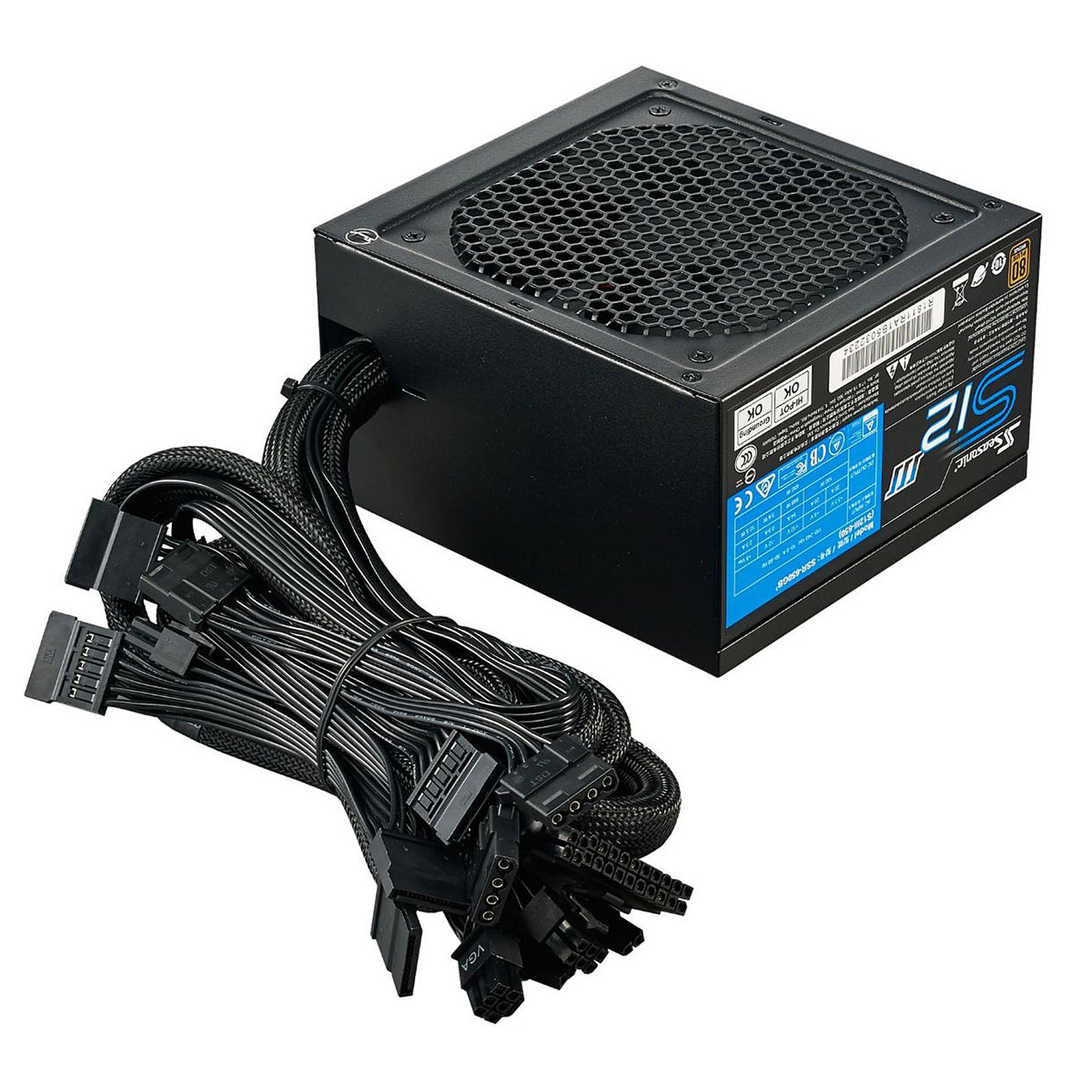 Alimentation PC 650W Seasonic S12III 80 Plus Bronze, informatique ile de la Réunion 974, Futur Réunion Informatique