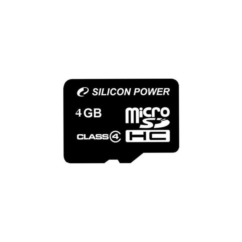 Carte mémoire Silicon Power micro SDHC 4 Go Class 4, informatique Reunion 974, Futur Réunion informatique