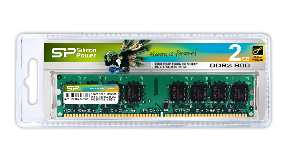 Mémoire Silicon Power DDR2 2Go PC6400 800MHz CL5, informatique Reunion 974, Futur Réunion informatique