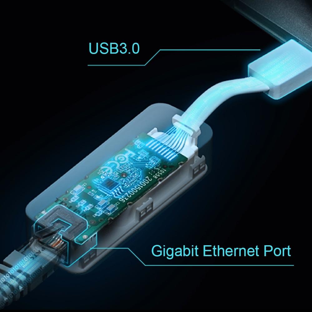 Carte réseau Ethernet Gigabit TP-LINK UE300 sur port USB 3.0, informatique Reunion, 974, Futur Réunion