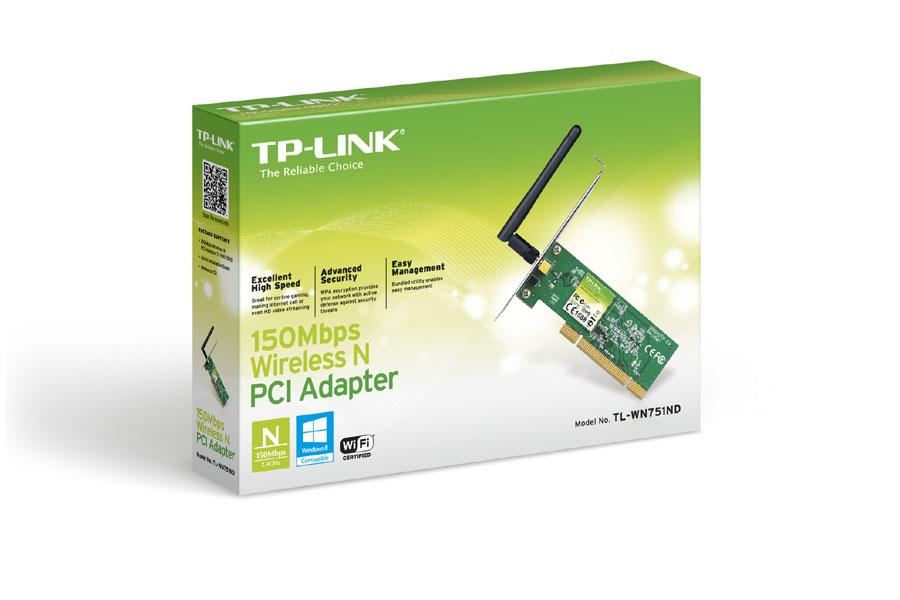 Carte réseau PCI Wi-Fi N 150 Mbps TP-LINK WN751D, informatique Reunion, 974, Futur Réunion