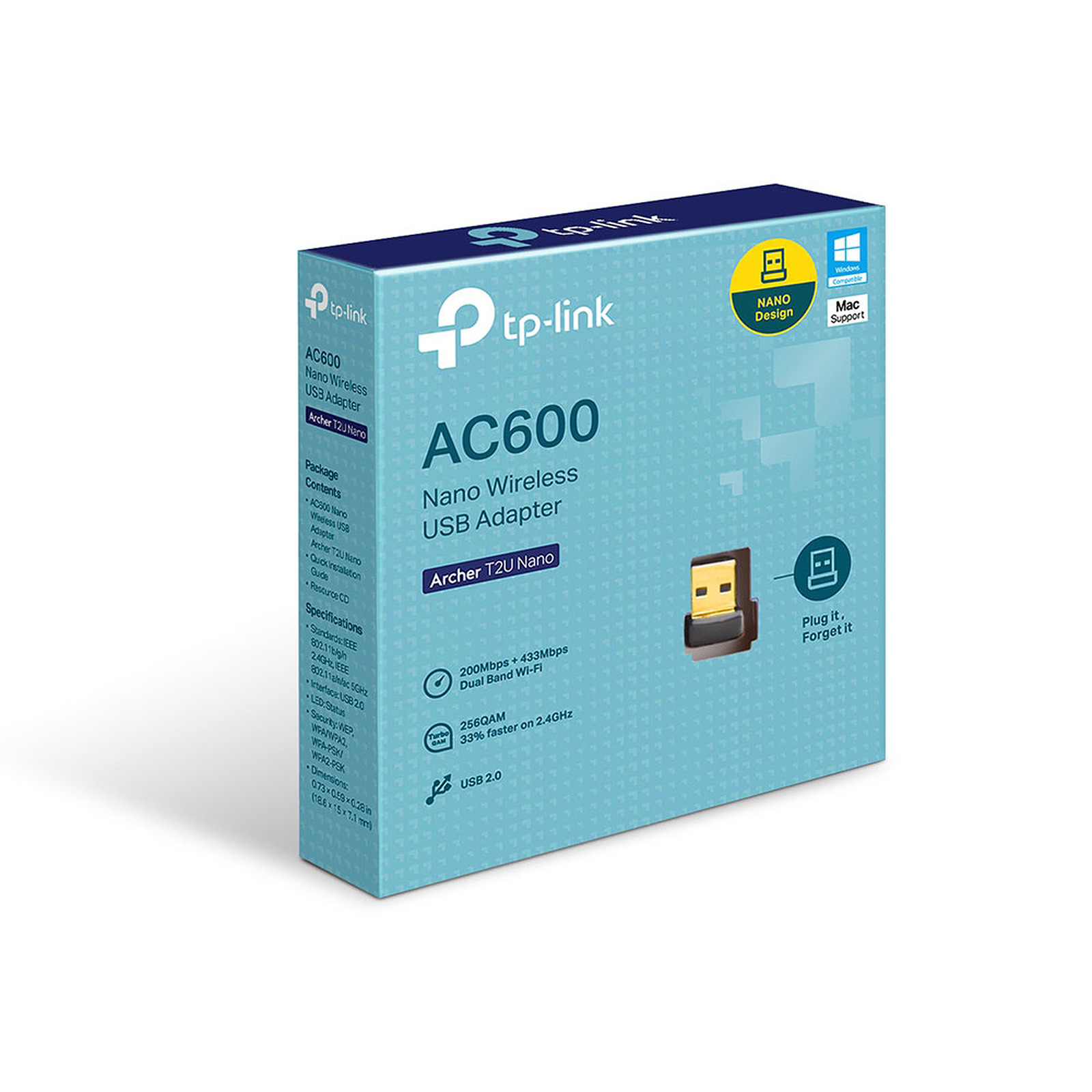 Carte réseau wifi AC (600 Mbps) USB TP-LINK Archer TU2 Nano, informatique Reunion, 974, Futur Réunion