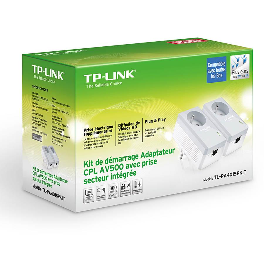 Adaptateurs CPL TP-Link TL-PA4015PKIT 500 Mbps - Pack de 2 , informatique Reunion, 974, Futur Réunion