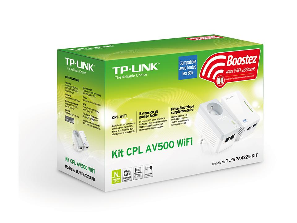 Adaptateurs CPL TP-Link TL-WPA4225PKIT Kit CPL AV500 + Wi-Fi N300  - Pack de 2, informatique Reunion, 974, Futur Réunion