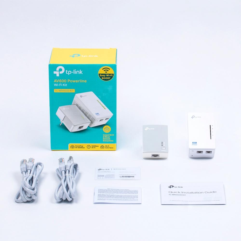Adaptateurs CPL TP-Link TL-WPA4220KIT Kit CPL AV600 + Wi-Fi N300  - Pack de 2, informatique Reunion, 974, Futur Réunion
