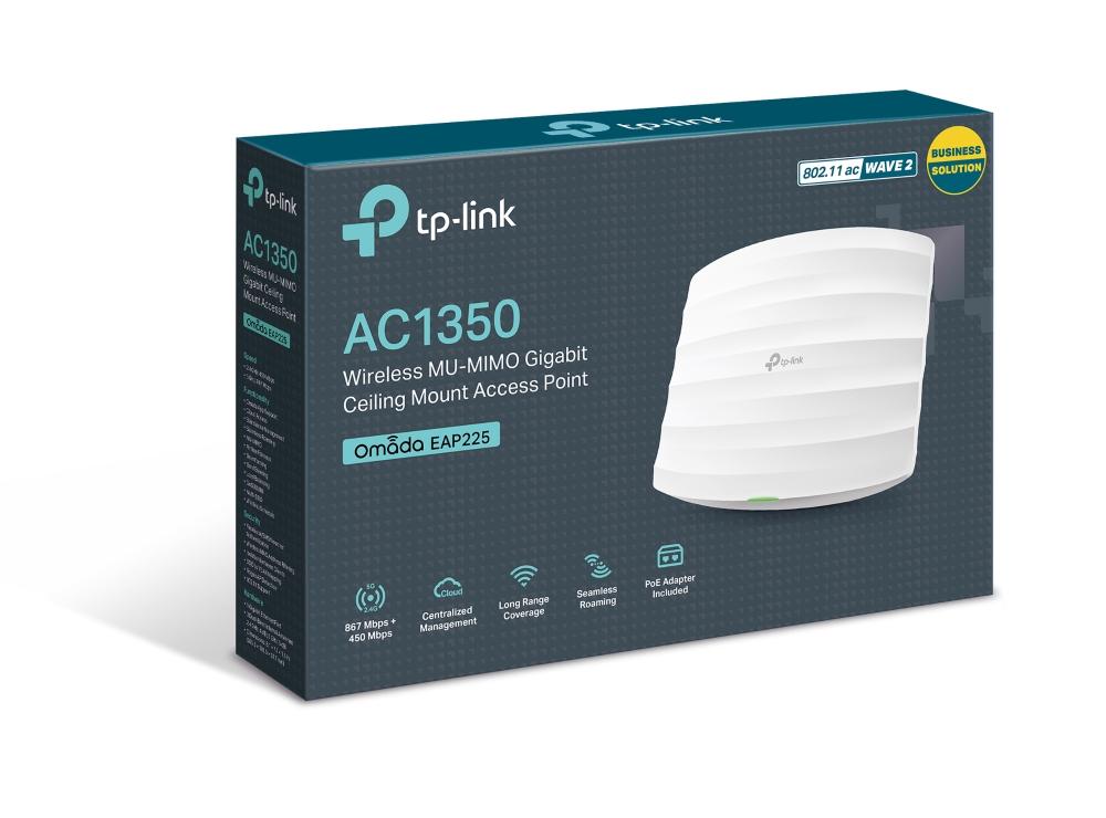 Point d'accès Wi-Fi bi-bande AC1350 PoE Gigabit - Plafonnier EAP225, informatique Reunion, 974, Futur Réunion