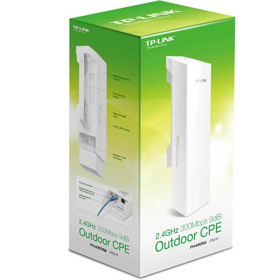 >Point d'accès extérieur TP-LINK CPE210 Wi-Fi N 300 Mbps 2.4GHz 9 dBi, informatique Reunion 974, Futur Réunion informatique