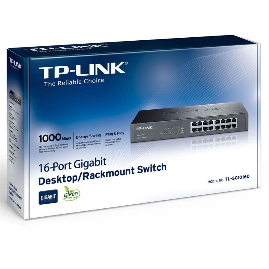 Switch rackable&de bureau 16 ports Gigabit TL-SG1016D, informatique Reunion, 974, Futur Réunion