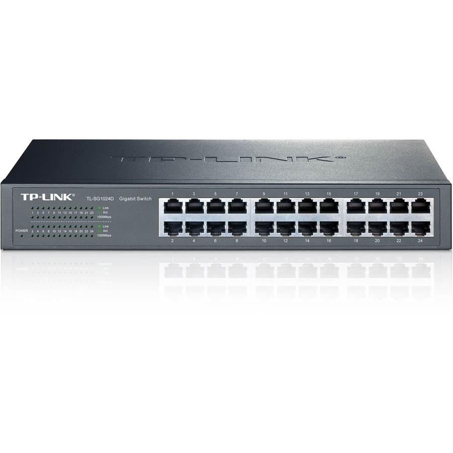 Switch rackable/de bureau 24 ports Gigabit TL-SG1024D, informatique Reunion, 974, Futur Réunion