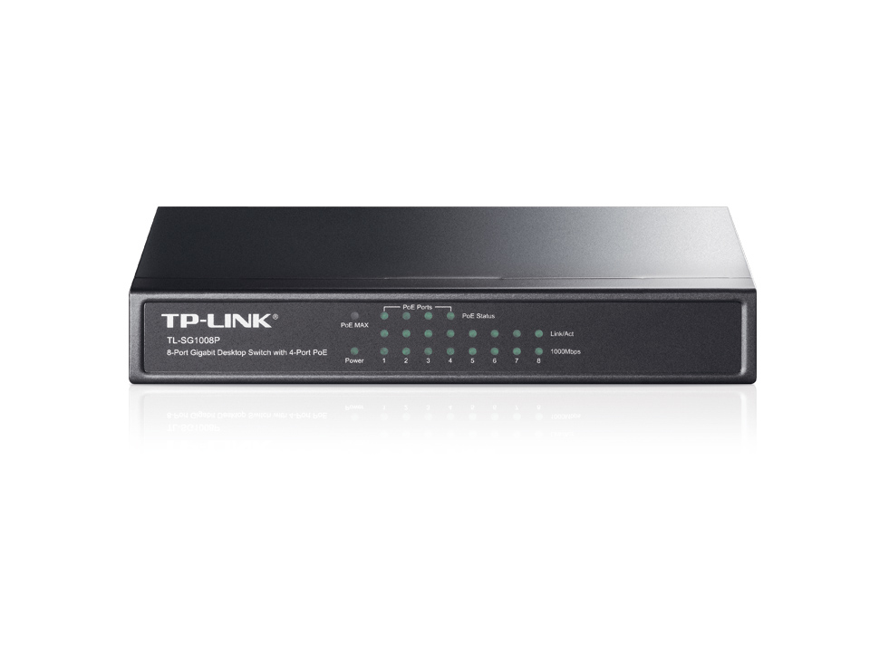Switch Gigabit PoE 8 ports 10/100/1000 Mbps TP-LINK TL-SG1008p, informatique Reunion, 974, Futur Réunion