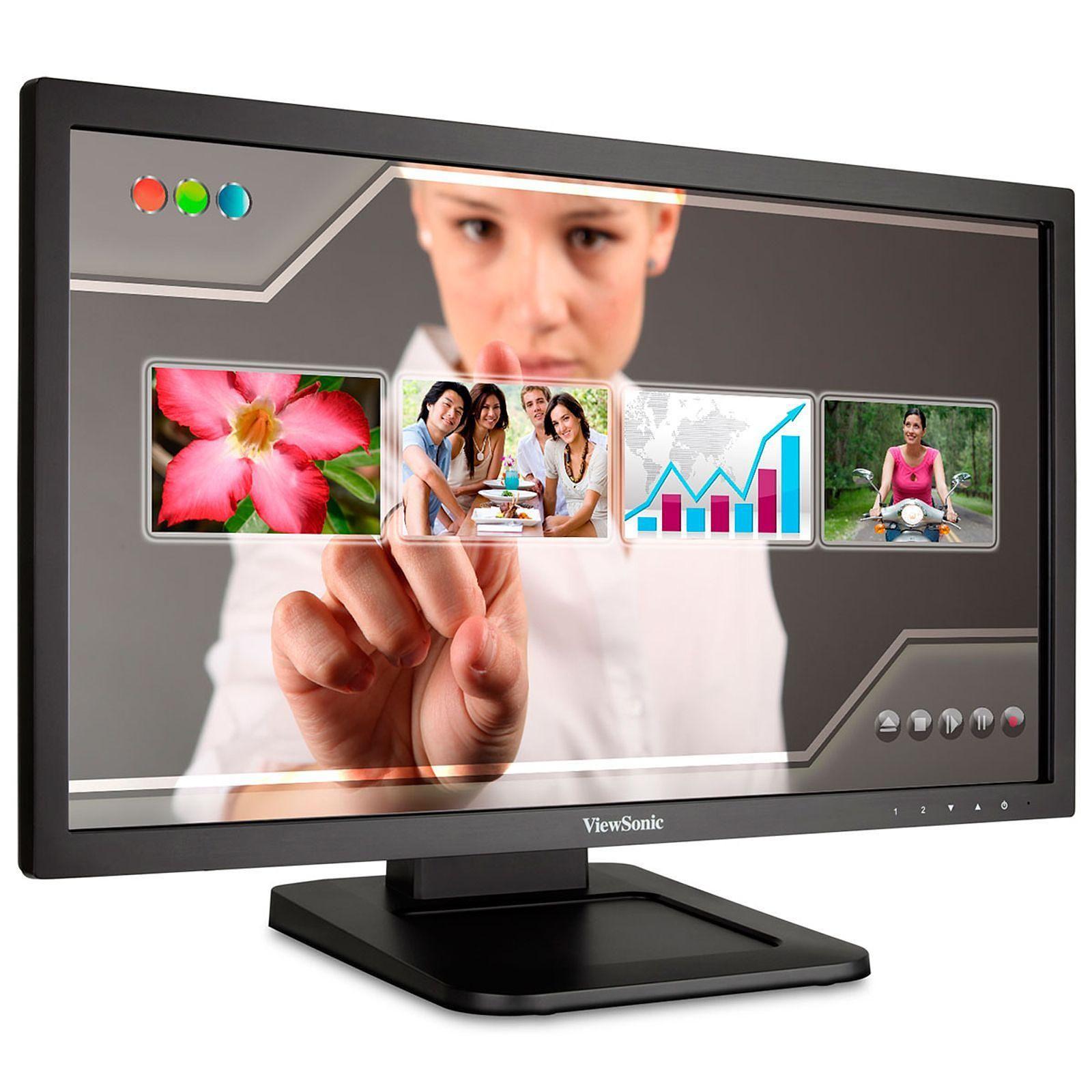 Ecran Moniteur LED 22 pouces Tactile Multitouch ViewSonic TD2220-2 Full HD VGA/DVI, Informatique Réunion 974