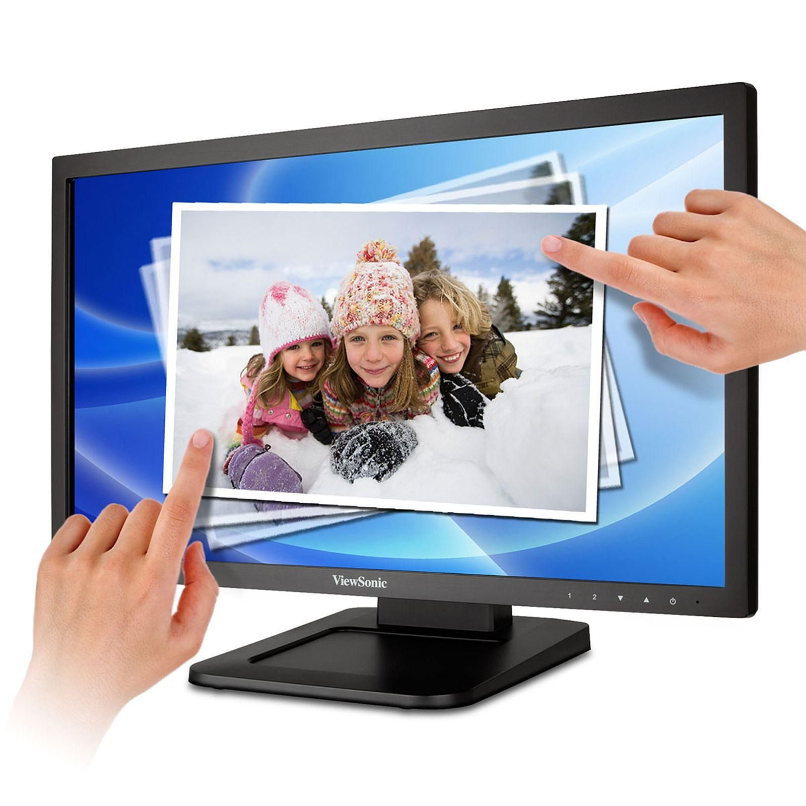 Ecran Moniteur LED 22 pouces Tactile Multitouch ViewSonic TD2220-2 Full HD VGA/DVI, Informatique Réunion 974